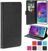 KDS Smooth wallet case hoesje Samsung Galaxy Note 4 zwart