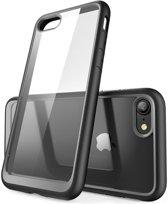 Transparant Apple iPhone 7 / 8 Hoesje met Bumper Zwart