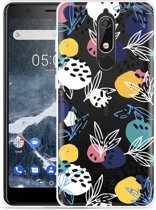 Nokia 5.1 Hoesje Abstract Flowers