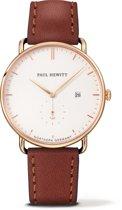 Paul Hewitt Grand Atlantic Line - PH-TGA-G-W-1M - Horloge - Leer - Bruin - Ø42mm