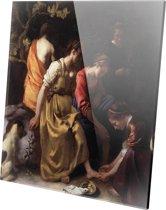 Diana en haar Nimfen | Johannes Vermeer | Plexiglas | Wanddecoratie | 100CM X 100CM | Schilderij