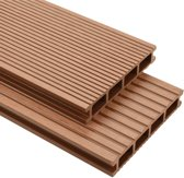 Terrasplanken HKC met accessoires 30 m² 4 m bruin (incl. Werkhandschoenen)