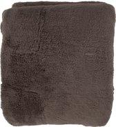 Nightlife Home Plaid Fluffy 150x200cm - Lycra/elastaan - Bruin
