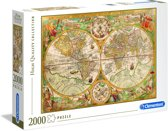 Clementoni - High Quality Puzzel Collectie - Ancient Map - 2000 stukjes