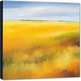 Yellow field ll – 70x70 cm – Hans Paus – PixaPrint – AB0202-1
