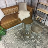 Vintage vloerkleed Eden 80x150 - Antraciet