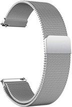 Milanees Bandje Zilver voor Samsung Galaxy Watch Active - Galaxy Watch Active Bandje - Italiaans Design Horloge Band met Magneetsluiting iCall