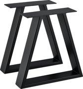 [en.casa] Stalen A /2- tafelpoot - meubelpoot 40x10x40 zwart