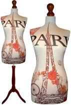 Paris des fleurs paspop met donker bruine sparkling driepoot  32/34