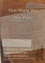 41 Division 124 Infantry Brigade Durham Light Infantry 20th Battalion