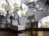 Silver Photomural, wallcovering