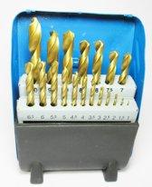 Borenset HSS titanium gecoat 1-10 mm 19-delig