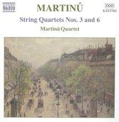 Martinu Quartet - String Quartets Nos 3 & 6