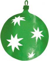 Kerstballen hangdecoratie groen 30 cm