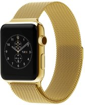 Bandje apple watch Milanese  goud 38mm - 40mm Watchbands-shop.nl