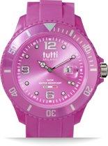 Tutti Milano TM001FU- Horloge - 48 mm - Fuchsia - Collectie Pigmento