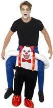 Instapkostuum enge horror clown voor volwassenen - Halloween kostuum