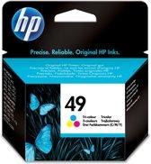 HP 49 - Inktcartridge / Cyaan / Magenta / Geel (51649AE)
