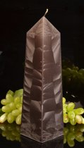 Obelisk Kaars XXL, Polyimico-ZWART hoogte: 34cm