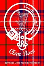 Clan Rose 200 Page Lined Journal/Notebook