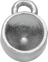Setting 1 Oog voor SS29 Puntsteen (6 mm) Antiek Zilver (10 Stuks)