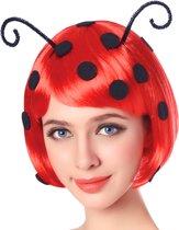 """""""Lieveheersbeestje pruik voor vrouwen - Verkleedpruik - One size"""""""