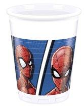 Marvel Feestbekers Spider-man 200 Ml 8 Stuks Wit