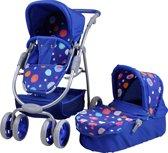 Knorrtoys luxe 2in1 poppenwagen blue splash
