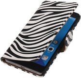 Huawei Honor 7 Wit | Zebra bookstyle / book case/ wallet case Hoes  | WN™