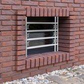 relaxdays raambeveiliging verstelbaar tralies voor venster raamtralies preventie