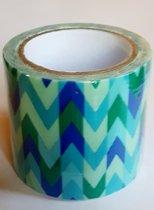 masking tape Blauw Pijlen - decoratie washi papier tape - 48 mm x 4 m