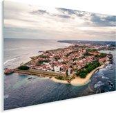 Luchtfoto van Fort Galle in het Aziatische Sri Lanka Plexiglas 80x60 cm - Foto print op Glas (Plexiglas wanddecoratie)
