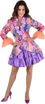 Hippie Kostuum | Kunstzinnige Aquarel Bloemen Jas Vrouw | XXL | Carnaval kostuum | Verkleedkleding