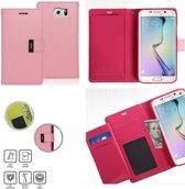 Mercury Rich Dairy wallet case hoesje Samsung Galaxy S6 Edge licht roze
