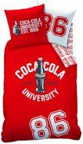 Coca Cola 1886 - Dekbedovertrek - Eenpersoons - 140 x 200 cm - Rood/wit