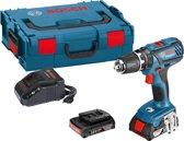 Bosch Professional GSB 18-2-LI Plus Accu klopboormachine - 18 V - Met 2 x 2,0 Ah Li-Ion accu's, snellader en L-BOXX