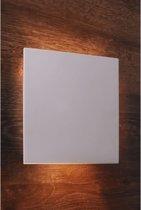 Zoomoi Relono - Wandlamp binnen - woonkamer - slaapkamer - gips - Overschilderbaar - wit - geschikt voor LED lamp