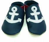 Starchild babyslofjes anchor navy Maat: S (11 cm)