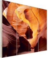 Antelope Canyon in Utah Hout 80x120 cm - Foto print op Hout (Wanddecoratie)