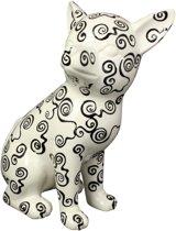 Chihuahua Big Nanou XL decoratief object | Hond - wit met zwarte krulletjes | Pomme pidou