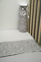 Cottonbaby Wieglaken panter grijs
