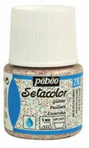 Pébéo Setacolor Gekleurde Glitters Textielverf - 45ml textielverf voor lichte stoffen