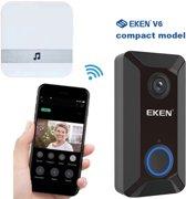 EKEN V6 video deurbel met camera + inclusief Samsung Oplaadbare Batterijen + Inclusief Gong + Nederlandse gebruiksaanwijzing