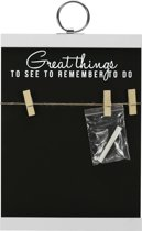 Gusta Krijtbord Great Things - 25x35cm