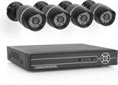 Smartwares 10.100.97 Bedraad CCTV camera systeem -  720P HD - 4 Camera's 500 GB HDD SW430DVR