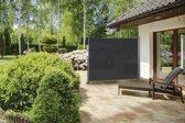 Uitschuifbaar zonne- / windscherm - zwart - 150 x 300 cm