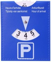 Blauwe Parkeerkaart / Parkeerschijf 10 X 12 cm