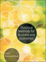 Statistical Methods for Business and Economics