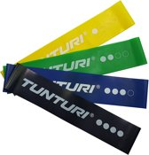 Tunturi 4 Weerstandsbanden Set - Mini Power body band - Weerstandsband - Fitness elastiek - Fitnessband - Trainingsband - Gymnastiekband