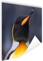 Koningspinguin portret Poster 60x40 cm - Foto print op Poster (wanddecoratie woonkamer / slaapkamer) / Dieren Poster